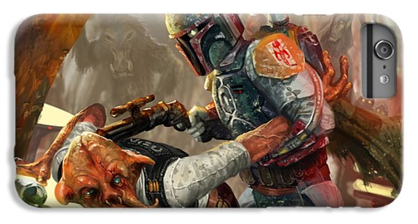 Star iPhone 6s Plus Case - Boba Fett - Star Wars The Card Game by Ryan Barger