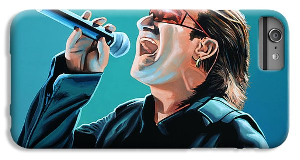 U2 iPhone 6s Plus Case - Bono Of U2 Painting by Paul Meijering