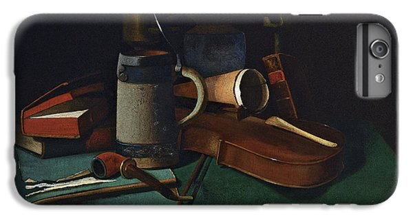 Violin iPhone 6s Plus Case - Books Mug Pipe And Violin by John Frederick Peto