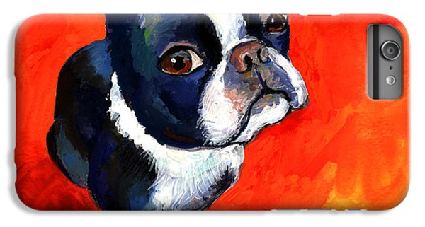 Boston Terrier Dog Painting Prints IPhone 6s Plus Case by Svetlana Novikova