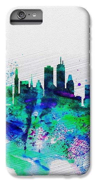 Boston Watercolor Skyline IPhone 6s Plus Case by Naxart Studio