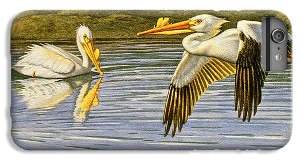 Pelican iPhone 6s Plus Case - Breeding Season- White Pelicans by Paul Krapf