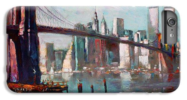 Seagull iPhone 6s Plus Case - Brooklyn Bridge And Twin Towers by Ylli Haruni