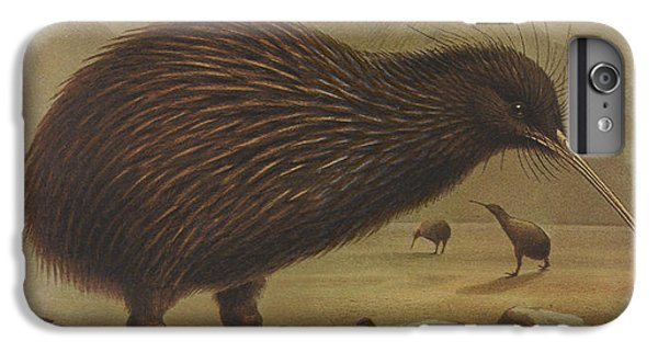Kiwi iPhone 6s Plus Case - Brown Kiwi by Dreyer Wildlife Print Collections