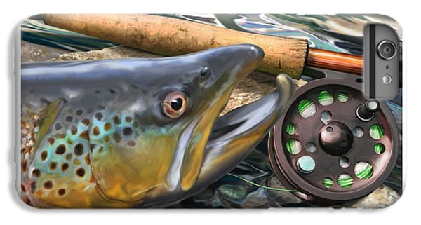 Salmon iPhone 6s Plus Case - Brown Trout Sunset by Craig Tinder