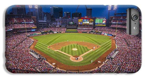 Cardinal iPhone 6s Plus Case - Busch Stadium St. Louis Cardinals Night Game by David Haskett