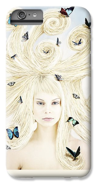 Butterfly Girl IPhone 6s Plus Case by Linda Lees