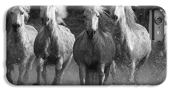 White iPhone 6s Plus Case - Camargue Horses Running by Carol Walker