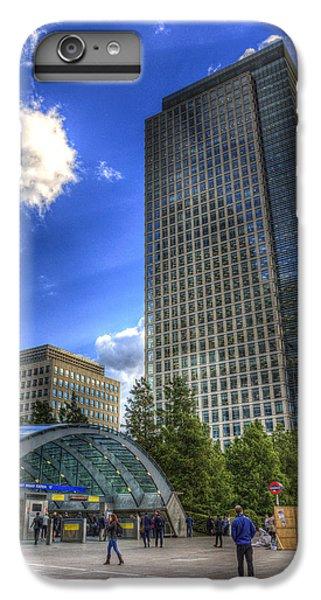 Canary Wharf Station London IPhone 6s Plus Case by David Pyatt