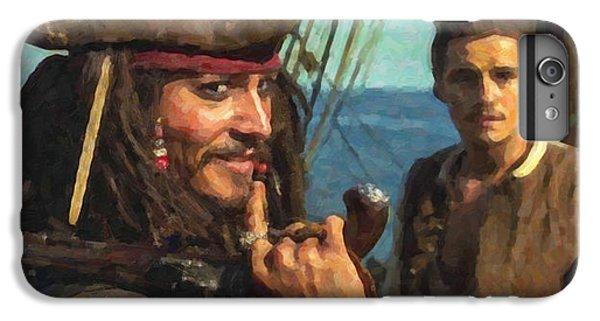 Cap. Jack Sparrow IPhone 6s Plus Case by Himanshu  Dubey