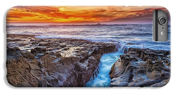 Ocean Sunset iPhone 6s Plus Case - Cape Arago Crevasse Hdr by Robert Bynum