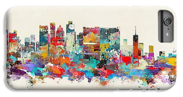 Town iPhone 6s Plus Case - Cape Town South Africa Skyline by Bri Buckley