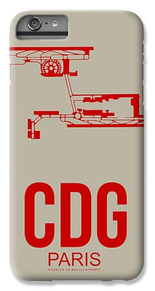 Eiffel Tower iPhone 6s Plus Case - Cdg Paris Airport Poster 2 by Naxart Studio