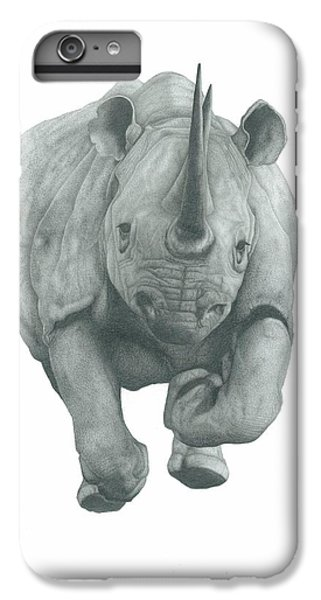 Rhinocerus iPhone 6s Plus Case - Charging Rhino by Rich Colvin