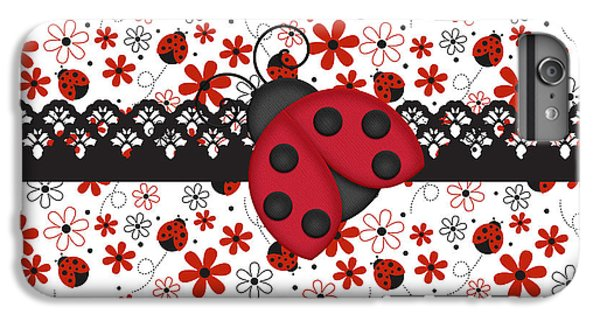 Charming Ladybugs IPhone 6s Plus Case by Debra  Miller