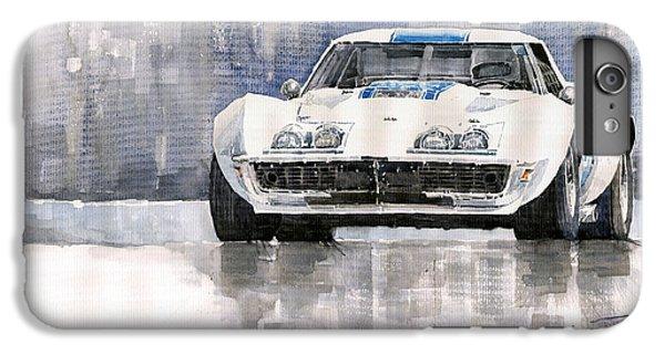 Car iPhone 6s Plus Case - Chevrolet Corvette C3 by Yuriy Shevchuk