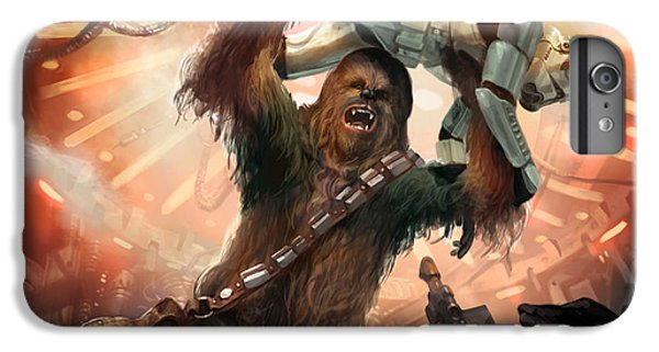 Star iPhone 6s Plus Case - Chewbacca - Star Wars The Card Game by Ryan Barger