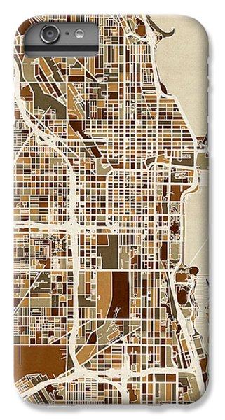 University Of Illinois iPhone 6s Plus Case - Chicago City Street Map by Michael Tompsett