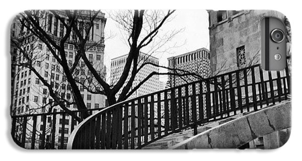Place iPhone 6s Plus Case - Chicago Staircase Black And White Picture by Paul Velgos