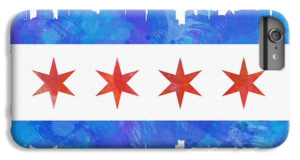 University Of Illinois iPhone 6s Plus Case - Chicago Flag Watercolor by Mike Maher
