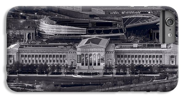 Soldier Field iPhone 6s Plus Case - Chicago Icons Bw by Steve Gadomski