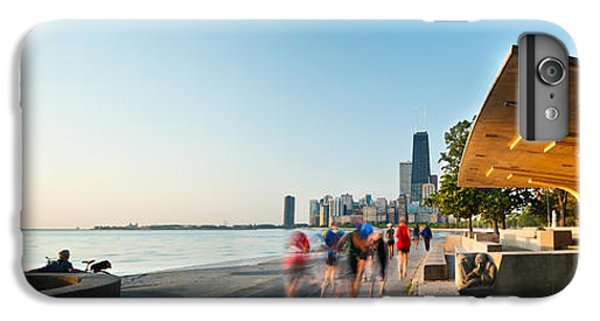 Hancock Building iPhone 6s Plus Case - Chicago Lakefront Panorama by Steve Gadomski