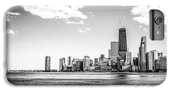 Hancock Building iPhone 6s Plus Case - Chicago Lakefront Skyline Black And White Picture by Paul Velgos