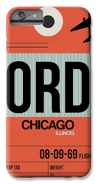 University Of Illinois iPhone 6s Plus Case - Chicago Luggage Poster 2 by Naxart Studio