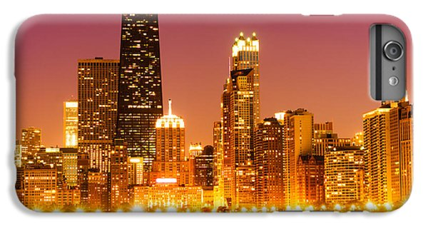 Hancock Building iPhone 6s Plus Case - Chicago Night Skyline With John Hancock Building by Paul Velgos