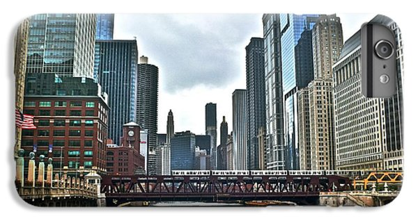 Soldier Field iPhone 6s Plus Case - Chicago River And City by Frozen in Time Fine Art Photography