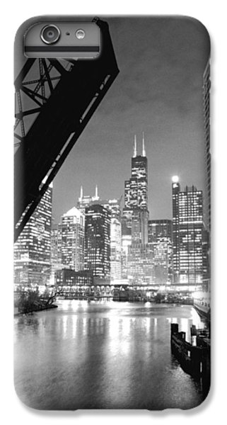 Hancock Building iPhone 6s Plus Case - Chicago Skyline - Black And White Sears Tower by Horsch Gallery