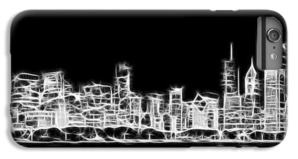 Hancock Building iPhone 6s Plus Case - Chicago Skyline Fractal Black And White by Adam Romanowicz