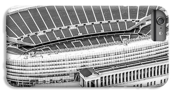 Soldier Field iPhone 6s Plus Case - Chicago Soldier Field Aerial Panorama Photo by Paul Velgos