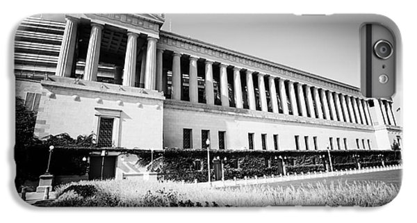 Soldier Field iPhone 6s Plus Case - Chicago Solider Field Black And White Picture by Paul Velgos