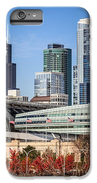 Soldier Field iPhone 6s Plus Case - Chicago With Soldier Field And Sears Tower by Paul Velgos