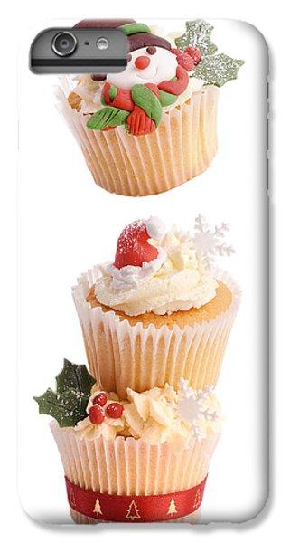 Fairy Cake iPhone 6s Plus Case - Christmas Cupcake Tower by Amanda Elwell