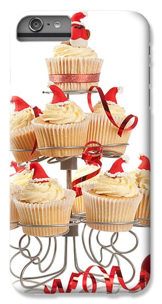 Fairy Cake iPhone 6s Plus Case - Christmas Cupcakes On Stand by Amanda Elwell