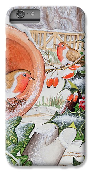 Christmas Robins IPhone 6s Plus Case by Tony Todd