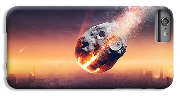 Explosion iPhone 6s Plus Case - City Destroyed By Meteor Shower by Johan Swanepoel
