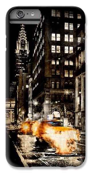Chrysler Building iPhone 6s Plus Case - City Streets  by Az Jackson
