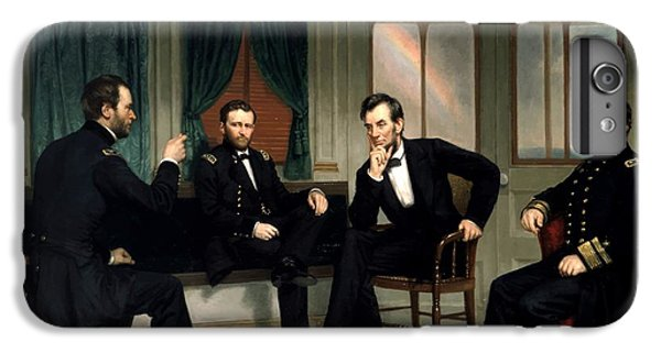 Abraham Lincoln iPhone 6s Plus Case - Civil War Union Leaders -- The Peacemakers by War Is Hell Store