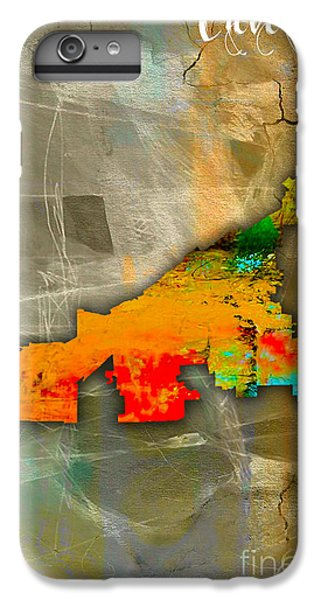 Cleveland Map Watercolor IPhone 6s Plus Case by Marvin Blaine