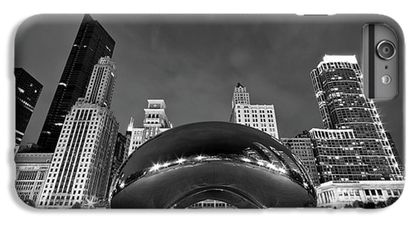 White iPhone 6s Plus Case - Cloud Gate And Skyline by Adam Romanowicz