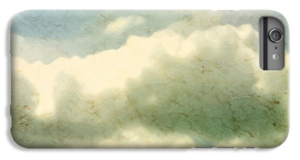 Space iPhone 6s Plus Case - Clouds. Grungy Vector Illustration by Vik Y