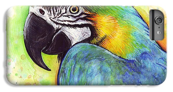 Macaw Watercolor IPhone 6s Plus Case by Olga Shvartsur