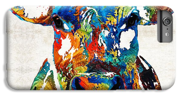 Cow iPhone 6s Plus Case - Colorful Cow Art - Mootown - By Sharon Cummings by Sharon Cummings