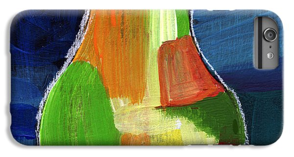 Pear iPhone 6s Plus Case - Colorful Pear- Abstract Painting by Linda Woods