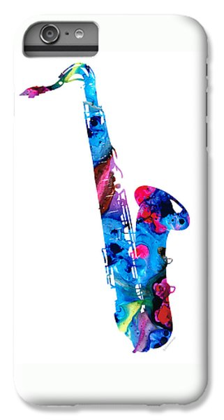 Colorful Saxophone 2 By Sharon Cummings IPhone 6s Plus Case by Sharon Cummings