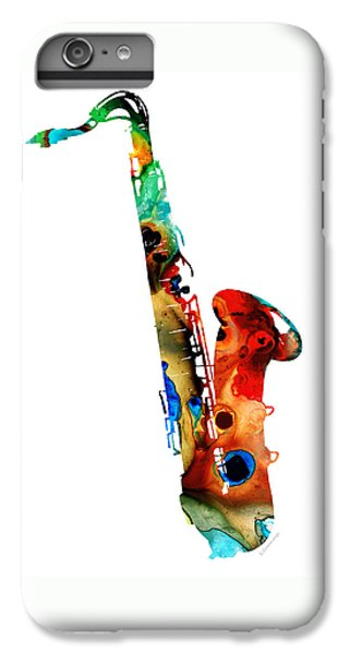Rock And Roll iPhone 6s Plus Case - Colorful Saxophone By Sharon Cummings by Sharon Cummings