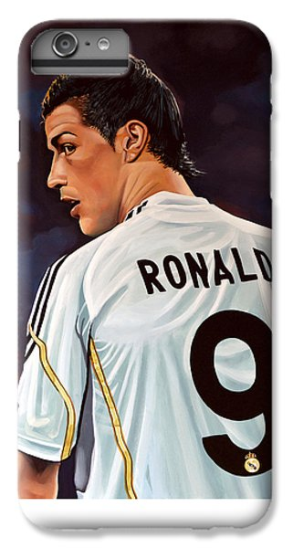 Celebrities iPhone 6s Plus Case - Cristiano Ronaldo by Paul Meijering